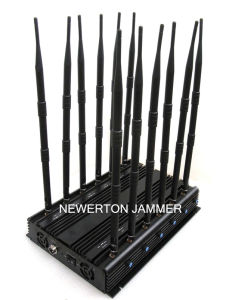 12 Antennas Desktop Jammer for All GSM/CDMA/3G/4G, 30W Mobile Phone Signal Jammer/ RF Radio Jammer/GSM Jammer/GPS Jammer/Wi-Fi Jammer/Cell Phone Jammer pictures & photos