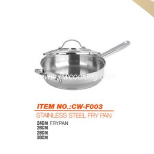 Stainless Steel Frypan with Helper - Glass Lid pictures & photos
