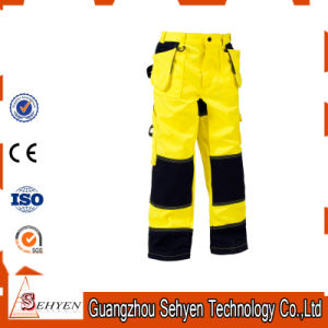 High Visibility Safety Work Yellow Reflective Pants pictures & photos