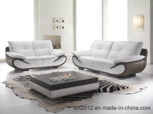 Modern Furniture Top Leather Sofa (S-3201) pictures & photos