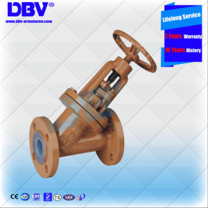 Industrial Wcb Fluorine Seated Globe Valve with Ce Approval