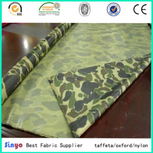PVC Coated 100% Polyester 190t Taffeta Raincoat Fabric with Military Printed pictures & photos