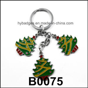 Christmas Trees Key Ring of Gold Printed, Decoration (GZHY-KC-002) pictures & photos