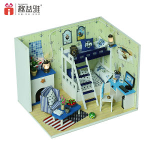 Wooden Toy DIY Miniature Dollhouse pictures & photos