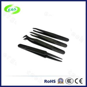 110mm Black Anti-Static ESD Plastic Tweezers pictures & photos