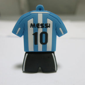 Number 10 Ball Clothes PVC USB Flash Drive Can Be Customized Logo 256GB pictures & photos