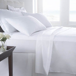 Top Quality Luxury White Fitted Flat Sheets Pillowcases Cali King pictures & photos