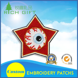 Customied Embroidery Patch in Red Color and Star Shape pictures & photos