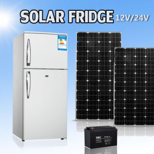 12 Volt DC Double Door Solar Energy Freezer Fridge Refrigerator pictures & photos