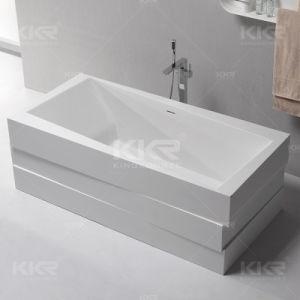 Sanitaryware Modern Luxury Resin Stone Free Standing Bathroom Bathtub pictures & photos
