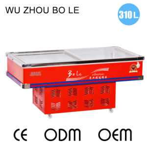 Sliding Glass Door Direct Cooling Showcase for Seafood