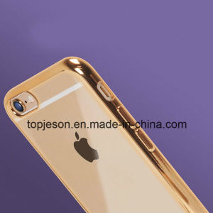 Transparent Electroplated TPU Soft Case for iPhone 6