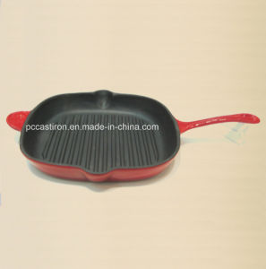 LFGB Ce Qualified Cast Iron Frypan Price China Factory Dia 26cm pictures & photos