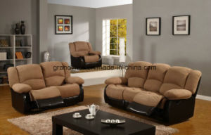 Contemporary Modern Black PU-Leather Sofa and Loveseat Living Room Set Multiple Color pictures & photos