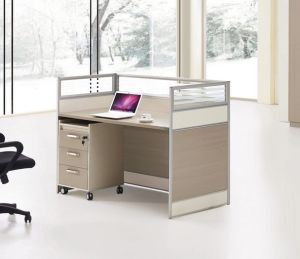 Single Seat Straight Desk Workstation Cluster Staff Office Partition (HX-NCD281) pictures & photos