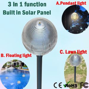 Portable 5W Fancy LED Garden Solar Lights Law Lamp Home Floating Light pictures & photos