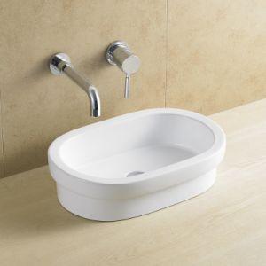 Countertop Rectangular Bathroom Ceramic Basin 8081 pictures & photos