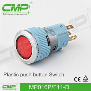 16mm Ring Lamp Plastic Push Button Switch pictures & photos
