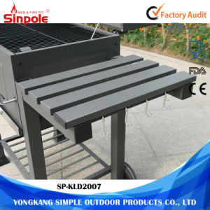 4-Wheel Small Stainless Steel Mini BBQ Charcoal Grill for Sale pictures & photos