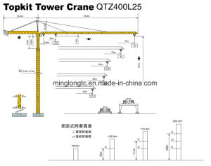 25t-Qtz400L25 (TC7540) Self-Erecting Tower Crane pictures & photos