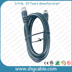 Low Cost Coaxial Cable Rg59 RG6 with F Connectors (RG59) pictures & photos