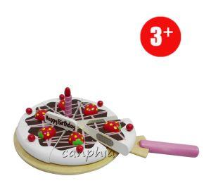 Wooden Children Pretend Play Food Set Kitchen Toy for Girls Kids Gift Birthday Cake pictures & photos