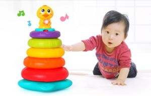 Kids Plastic Educational Stacking Rainbow Duck Baby Toy pictures & photos