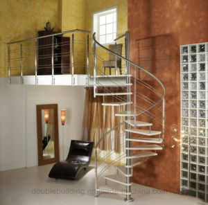 Office Spiral Staircase Design with Wood Tread pictures & photos