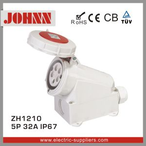 IP67 5p 32A Surface Mounted Industrial Socket pictures & photos