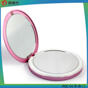 New Fashion Colorful Make-up Mirror Silm Power Bank with LED light pictures & photos