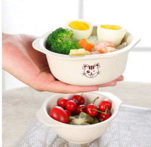 Hot-Sell Natural Bamboo Fiber Kitchenware Cute Baby Bowl (YK-B3050) pictures & photos