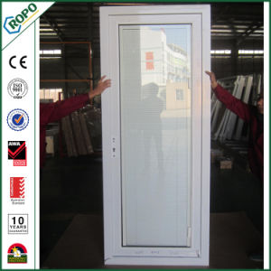 China Ropo UPVC Double Glazing Casement Door with Blinds Inside pictures & photos