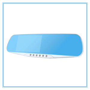 Dual Lens blue Review Mirror Digital Video Recorder Night Vision Car DVR pictures & photos
