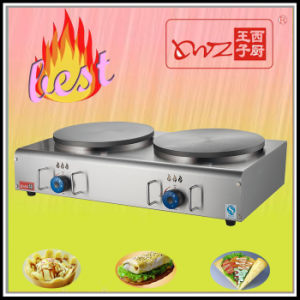 Two Plates Gas Crepe Machine Crepe Maker pictures & photos