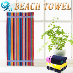 100% Cotton Reactive Printed Beach Towel pictures & photos