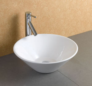 White Ceramc Basin for Washroom