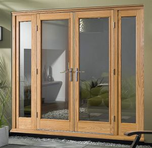 European Style Double Glazed Fully Tempered Glass French Door pictures & photos