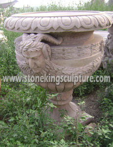Marble Flower Pot, Garden Stone Planter and Stone Vase (SK-2636) pictures & photos
