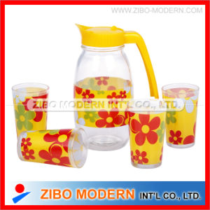 Clear Decal Juice Cold Drink Bottles with Glass pictures & photos