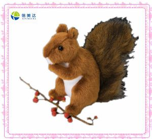Plush Cute Brown Squirrel Toy (XMD-0081C) pictures & photos