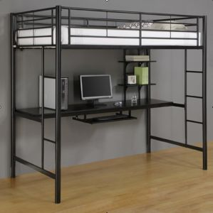 China high bed with workstation and loft hf085 china furniture home furniture - Balances hoogslaper ...