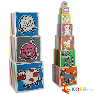 Educational Toy - Wooden Stacking Tower (LX518C)