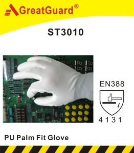 PU Palm Fit Glove (ST3010) pictures & photos