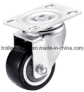 2 Inch Light Duty Zinc Plated PU Swivel Caster Wheel pictures & photos