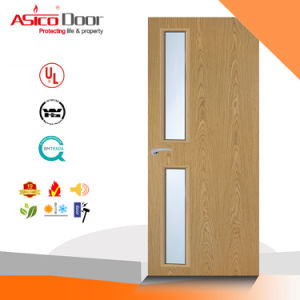Solid Wood Door with Glass Internal Room Used Good Design pictures & photos