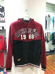 Dark Red and Balck Man Cardigans Leisure Hoody Clothes with Printing Fw-8717 pictures & photos