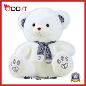 White Teddy Bear Plush Bear with Hook & Loop Open Back pictures & photos