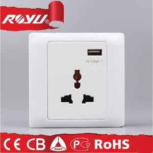 Middle East British 5V 1A USB Wall Socket USB EU pictures & photos