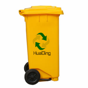 120L Plastic Rubbish Bin Rubber Wheel Trash Can for Outdoor pictures & photos