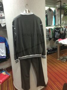 Man Grey Strip Sport Wear Suits in Man Leisure Family Clothes Fw-8818 pictures & photos